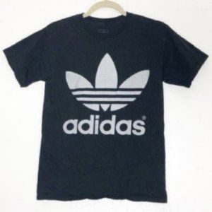 Adidas [S] Black Trefoil Burnout Graphic Tee